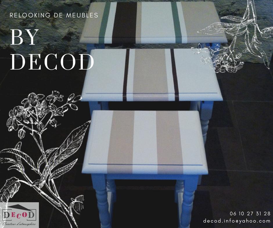 Relooking tables gigognes peinture