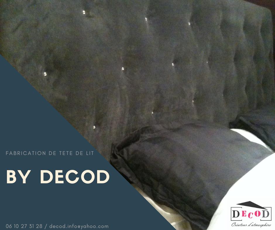 Création d'une tete de lit en velours gris