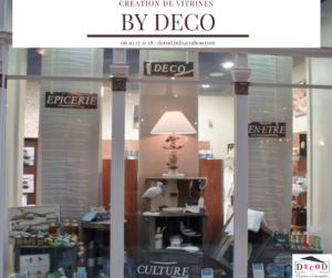 Création vitrine boutique magasin commerce vente