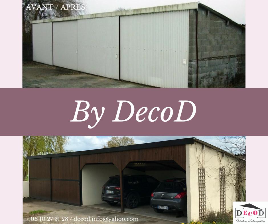 Renovation garage préau avant apres