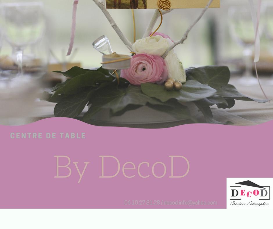 Décoration événementielle, Mariage, Centre de table, Lierre, Renoncules, Bougies, Branchage