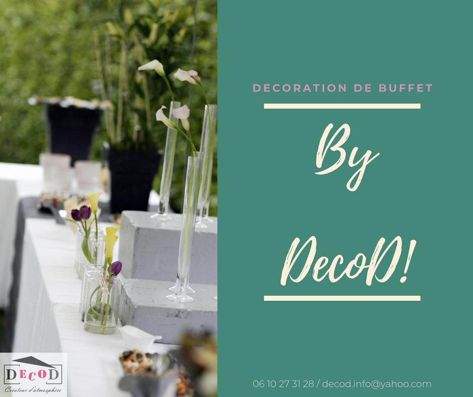 Décoration événementielle Buffet Reception Mariage Arum Tulipes