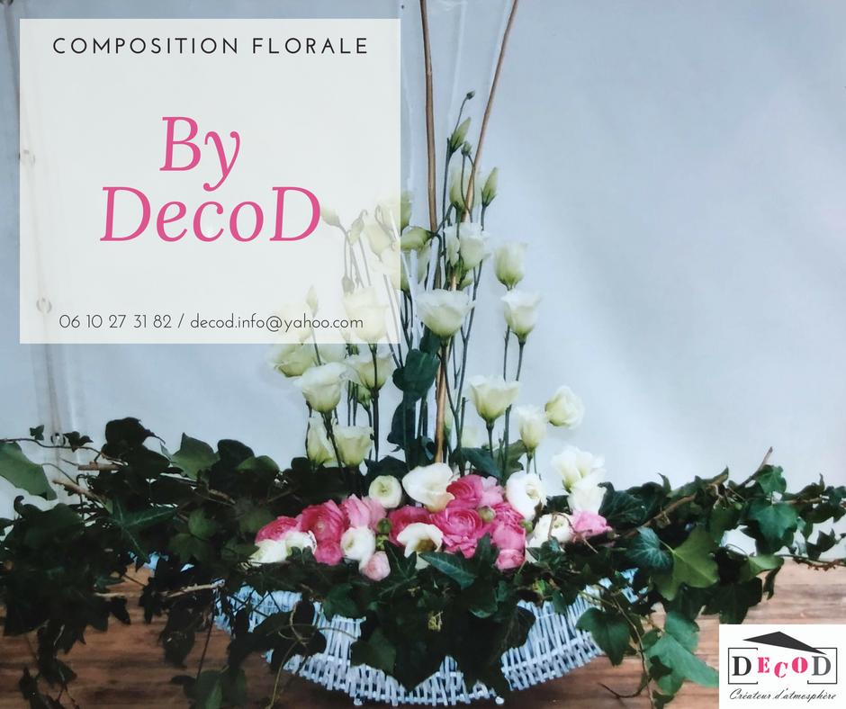 Décoration événementielle Composition florale mariage Renoncules Lisianthus Lierre