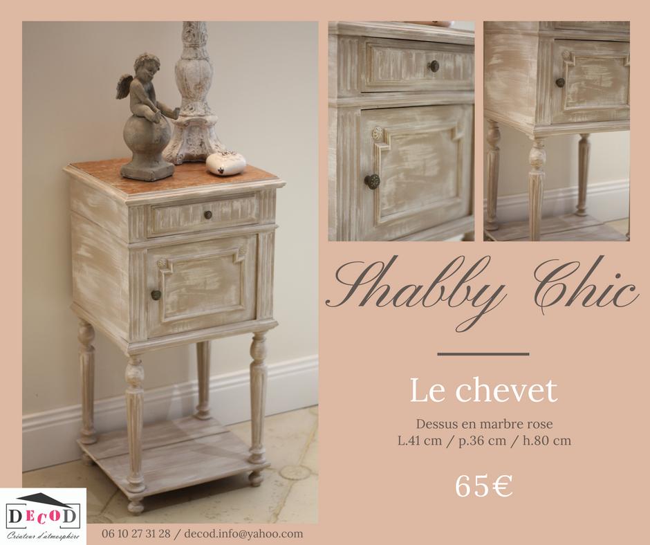 Chevet Shabby Chic 65€