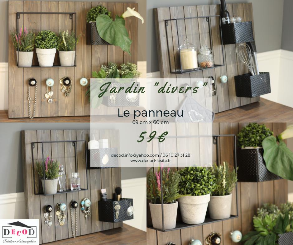 Panneau Jardin divers 59€