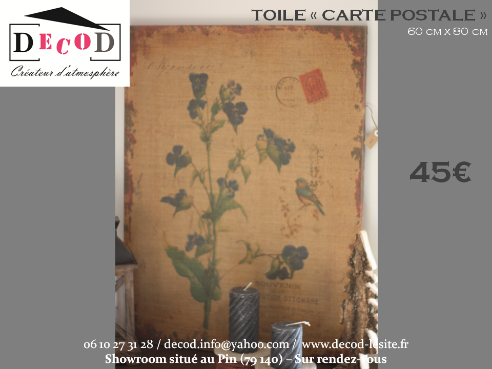 Toile Carte Postale