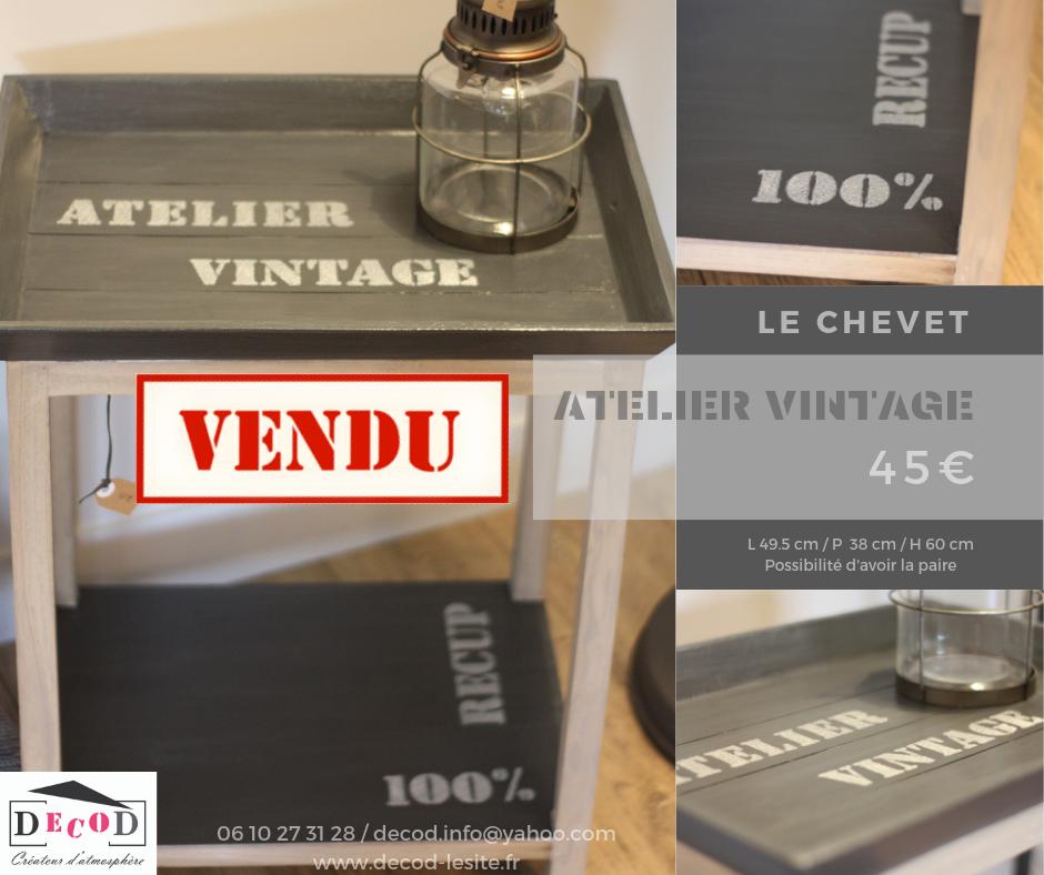 Chevet Atelier Vintage VENDU