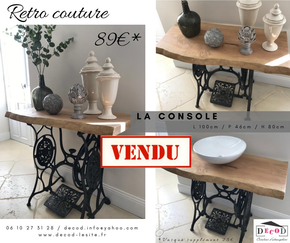 Console Retro Couture VENDU