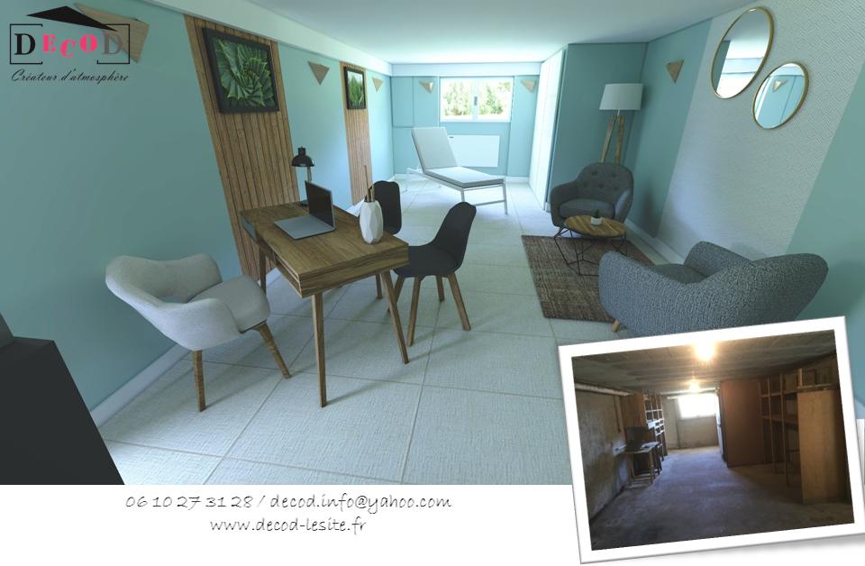 Projet de transformation d'un garage en cabinet de reflexologie (2020)