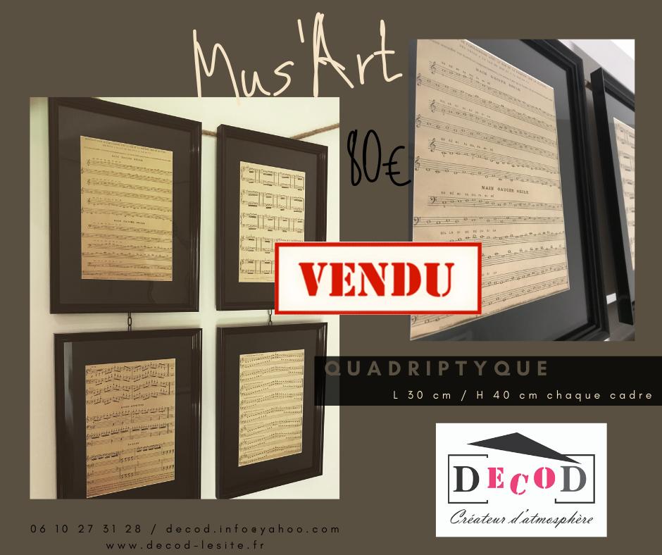 Quadriptyque Mus'art 80€
